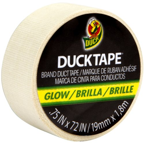 Mini Duck Tape .75' Wide 6 Feet Roll-Glow In The Dark
