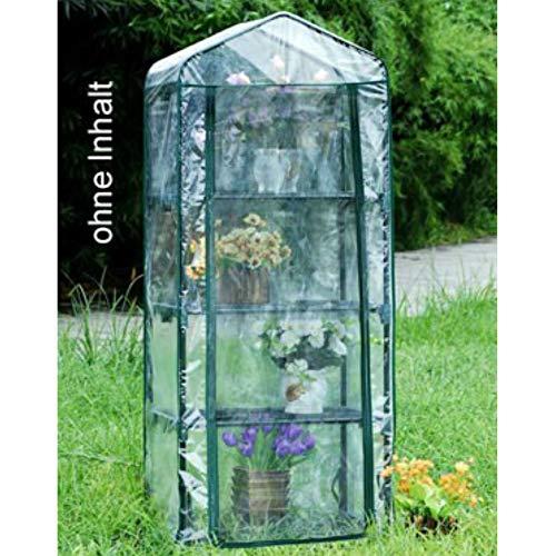 TronicXL Mini Gewächshaus Grow Box Foliengewächshaus Anzucht Gartenhaus Treibhaus für Balkon Garten Turm mit 4 Etagen