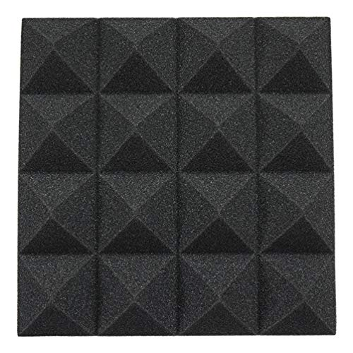 12pcs Pyramid Acoustic Foam Tile Home Studio Sound Treatment Accessories Foam DIY Studio Sound...