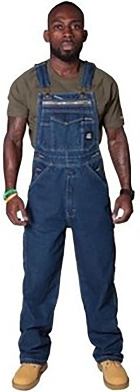 Men's Denim Cargo Pants Loose Jumpsuit Blue Straight Cargo Pants