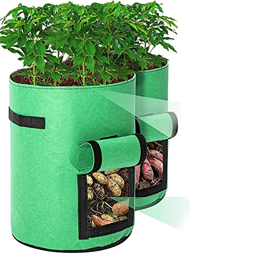 Tvird Macetero Bolsa Planta 2 Pack, Bolsa de Verduras, Bolsas de Cultivo, para Plantas Vegetales...