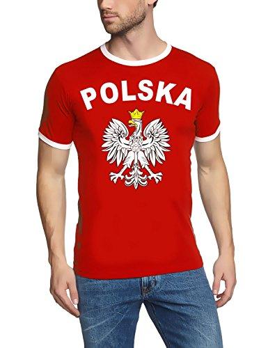 EM 2016 POLSKA Adler Fußball T-SHIRT TRIKOT mit Deinem NAMEN + NUMMER ! HERI Ringer ROT-schwarz Gr.L