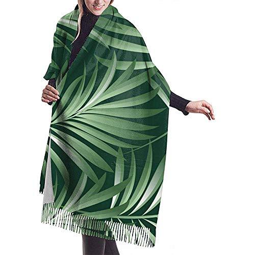 LisaArticles Damessjaal,Palm Tropical Plant Leaves Premium Sjaals voor sport Athletic Gym