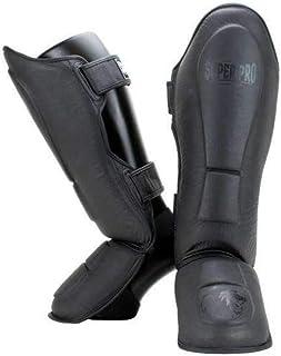 Super Pro Combat Gear Leder Schienbeinschützer Guardian Grau-XL
