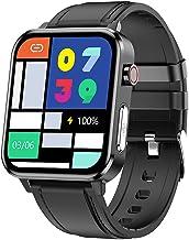 Fitness Tracker Calorieteller, Smart Watch met bloeddrukmeter, Hartslagmeter, Lichaamstemperatuur, Slaaptracker, Stappente...