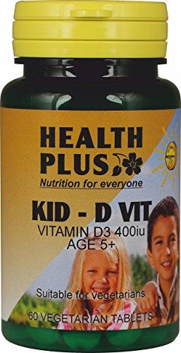 Health Plus Kid-D VIT (400iu Vitamin D): Children's Supplement : 60 Tablets