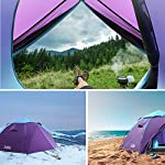 Sable Pop Up Beach Tent Purple, Sun Shelter 2 3 Man Tent for Kids Adults Windproof Waterproof and Quick Set-up, with Carry Bag for Outdoor Garden, Camping, Fishing, Picnic 11