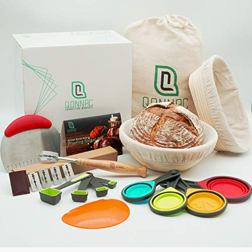Most Complete Bread Making Kit - Bake Delicious Round & Oval Artisan Sourdough Bread with Comprehensive 39pcs Sourdough Proofing Basket & Bread Baking tools.