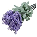XHJLNNY XINHEJULN 35cm romantische Lavendel Blume Seide künstliche Blume Pflanze hochzeitshirt gartentisch Dekoration Schöne Dekoration (Color : Light Purple)