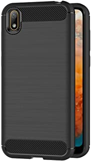 Case for Huawei Y5 2019 / Honor 8S (5.71 inch) Soft Silicon Luxury Brushed with Texture Carbon Fiber Design Protection Cov...