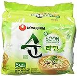 Nong Shim Instantnudeln Soon Veggie Ramyun - Koreanische  Gemüse Ramen Suppe mild - Instantsnack - schnelle Zubereitung - 1er Vorteilspack à 560g