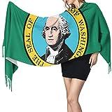Bufanda de mantón Mujer Chales para, Bandera de Washington Moda para mujer Mantón largo Invierno Cálido Bufanda grande Bufanda de cachemira