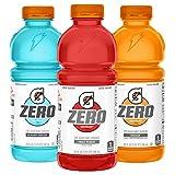 Gatorade Zero Sugar Thirst Quencher, Fruit Punch Variety Pack, 20 Fl Oz (Pack of 12)