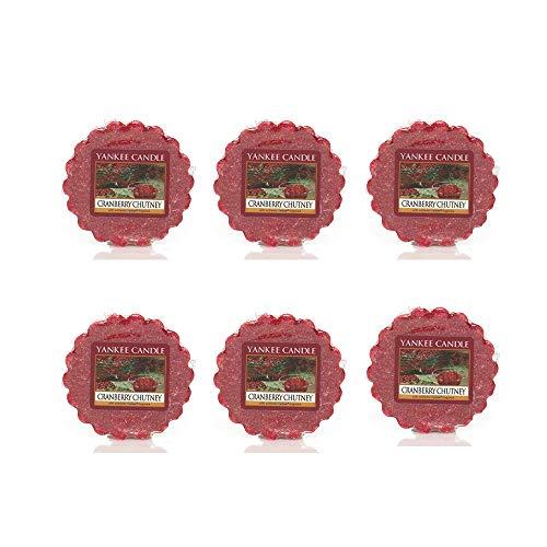 Yankee Candle Lot of 6 Cranberry Chutney Tarts Wax Melts