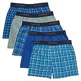 Hanes Boys' Boxer 5 Pack, Tartan, Small (Colors may vary)