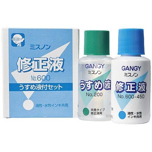 カズキ 修正液 ミスノン うすめ液付 NO.600 【3個セット】