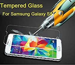 Etech Premium Tempered Glass Screen Protector with Anti-Scratch, Bubble-Free for Samsung Galaxy S5, SV, i9700