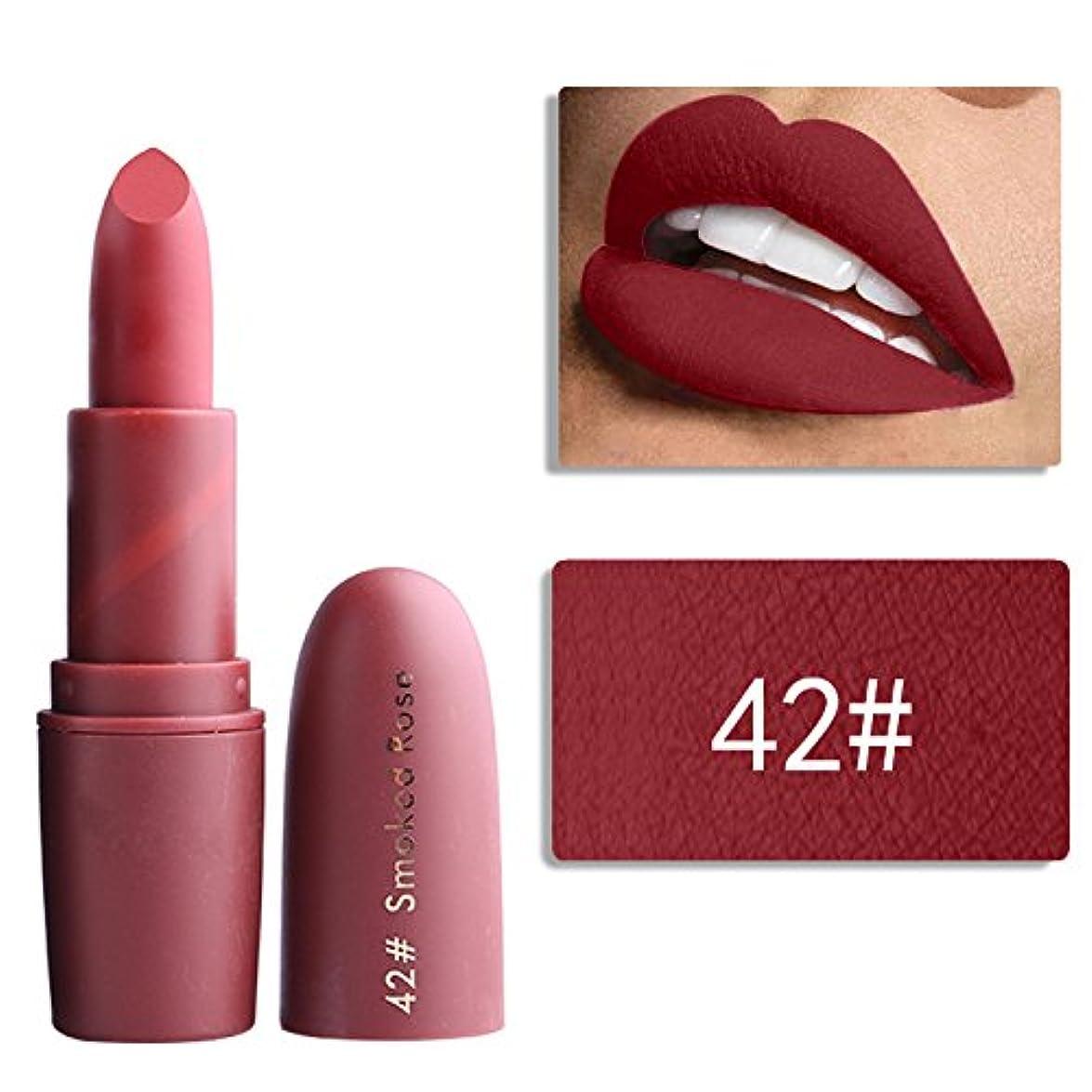 弱める幸運なことにイノセンスMiss Rose Nude Lipstick 22 colors Waterproof Vampire Brown Beauty Baby Lips Batom Matte lipstick Makeup Tats Eugenie Margherita