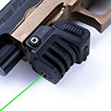 Pinty Green Laser Sight Sub Compact Tactical Rail Mount Low Profile 980' Laser Spotting Scope Less Than 5mW Built-in USB Rechargeable Battery for Pistol Rifle Handgun Gun