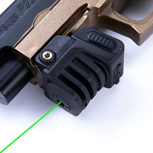 Pinty Green Laser Sight Sub Compact Tactical Rail Mount Low Profile 980