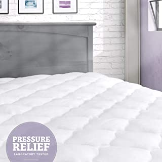eLuxurySupply Pressure Relief Mattress Pad with Fitted Skirt | Bedsore Prevention Mattress Pads | Hypoallergenic Mattress Topper | Made in The USA, Queen