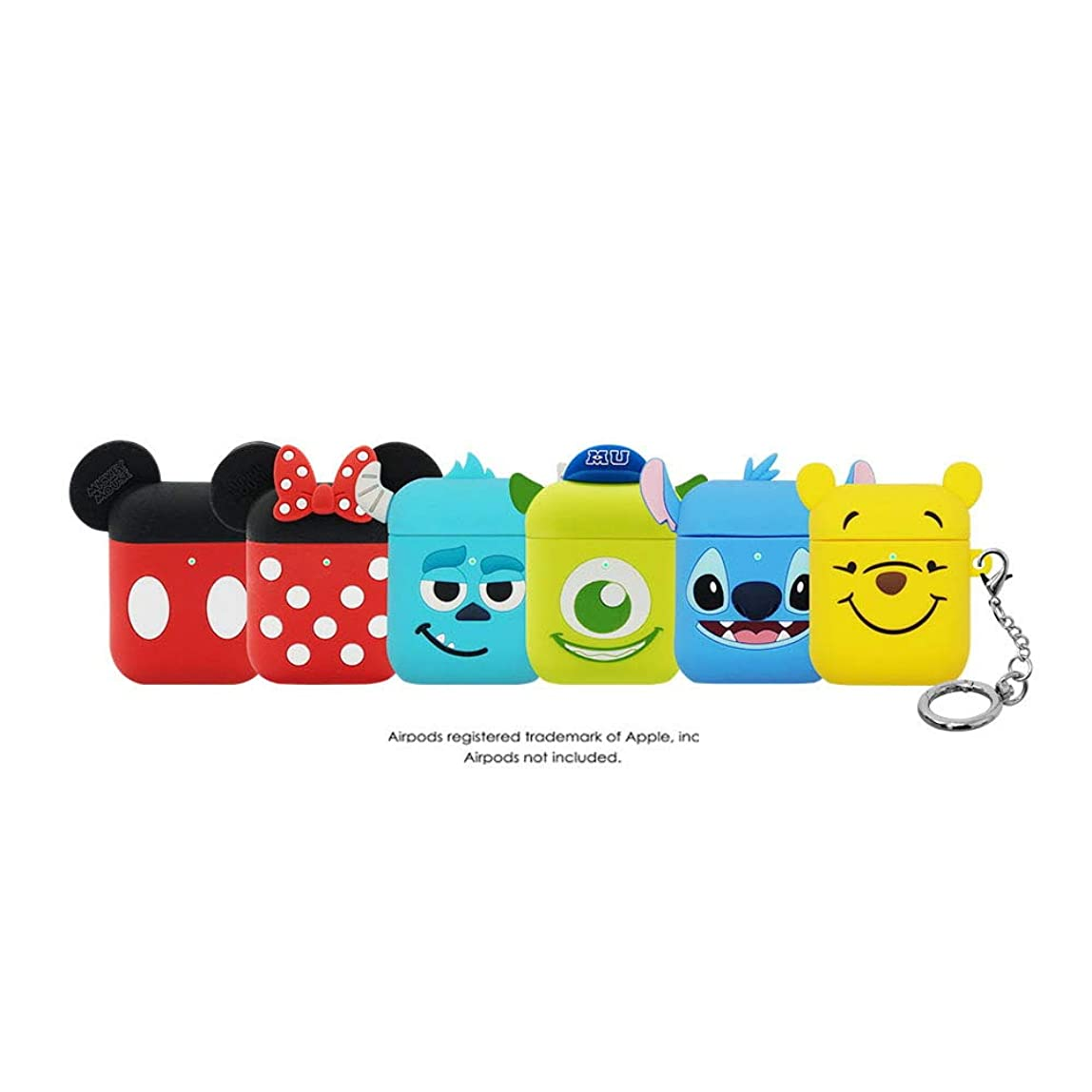 「NEW 1?2世代共用」(リング付き) DISNEY?PIXAR AIRPODS SILICONE CASE APPLE ディズニー?ピクサー?エアーポッツ?シリコン?ケース?アップル (MIKE)