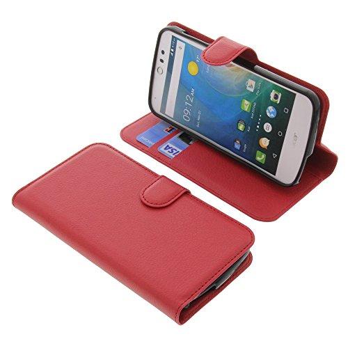 foto-kontor Tasche für Acer Liquid Z530 Liquid M530 Book Style rot Schutz Hülle Buch