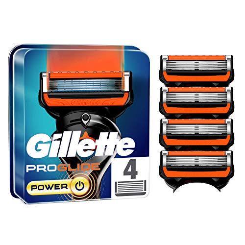 Gillette ProGlide Power Cuchillas de Afeitar Hombre, Paquete de 4 Cuchillas de Recambio