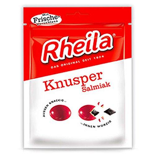 RHEILA Knusper Salmiak mit Zucker Bonbons 90g (20 Packungen)