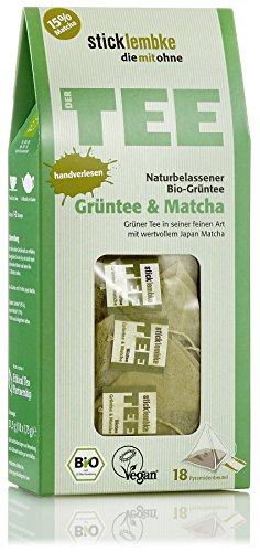 Naturbelassener Bio Tee Grüntee & Matcha, 18 x 1,75g , Bio
