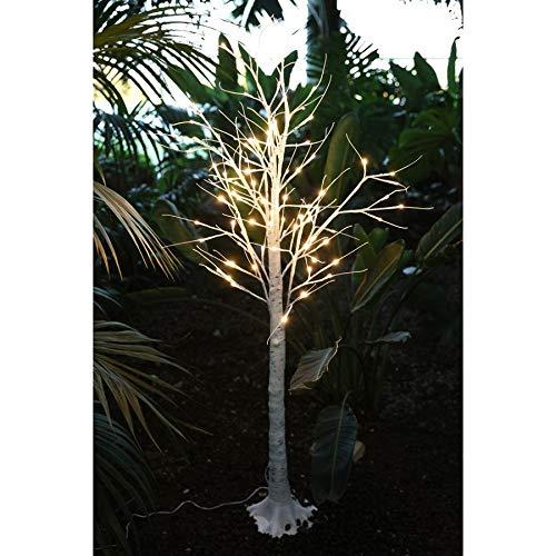new home LED Lichterbaum Birkenstamm 150cm Dekobaum Gartendeko Weihnachtsdeko warmweiß