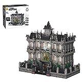 HYZM Arquitectura Lunatic Asylum con luz LED, 7537 piezas de tres pisos Hospital Modular Casa Set de construcción de construcción de edificios compatibles con Lego
