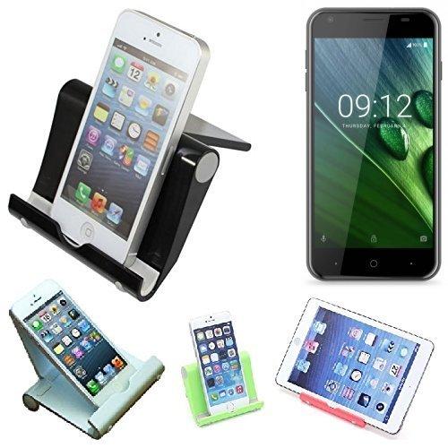 K-S-Trade per -Acer Liquid Z6- Supporto da Tavolo Dock Nero, Forte, Leggero E Compatto Multi-Angolo Basamento Smartphone Fold-up Stazione