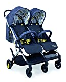 Cosatto Woosh Double Stroller – Lightweight Pushchair From Birth to 15kg, Twins or