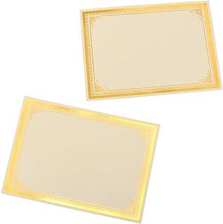 Tomaibaby A4 Certificat Papier Récompense Certificat Papier Papier Certificat Papier pour École Cérémonie Bureau (30 Pcs)