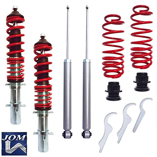 "JOM Euro Height Adjustable Coilover Suspension Lowering Kit For VW Jetta Golf MK4 New Beetle - Adjustable 20-100mm / 0.8""-3.94"""