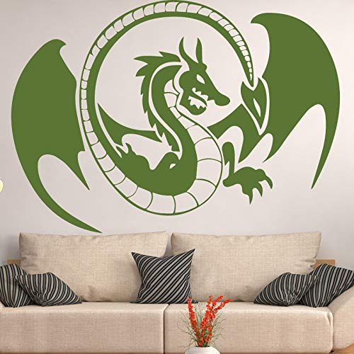 Wings Dragon Wall Decal Wall Stickers DIY Home Decalation Waterproof Wall Sticker for Living Room Wall Decal Black XL 58cm X 83cm