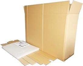 32-43インチ薄型テレビ梱包用ダブル硬材質ダンボールと保護緩衝材セット (外寸:1000X315X680)