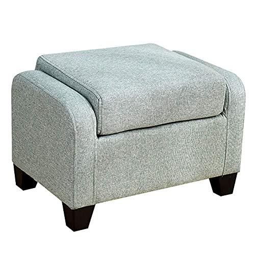 ZJYWMM Pufs y reposapiés Sofá Creativo Cuadrado Sentado cómodo algodón Duradero, 5 Colores (Color: Bronce, tamaño: 60x40x40cm)