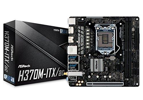 ASRock H370M-ITX/AC 90-MXB6R0-A0UAYZ - Placa Base (Intel H370, S 1151, DDR4, SATA3, M.2, Dual GbE, AC WiFi, BT4.2, USB 3.1 Gen2 A), Color Negro
