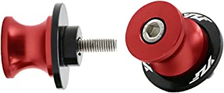 2pcs 6MM M6 X1.5 Motorcycle Swing arm Sliders Spools CNC Swing Arm Stand Screw for Yamaha YZF R1 R3 R6 R25 R1000 (Red)
