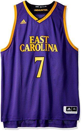 White No. 4 Game Used East Carolina Russell Football Jersey (SIZE 46)