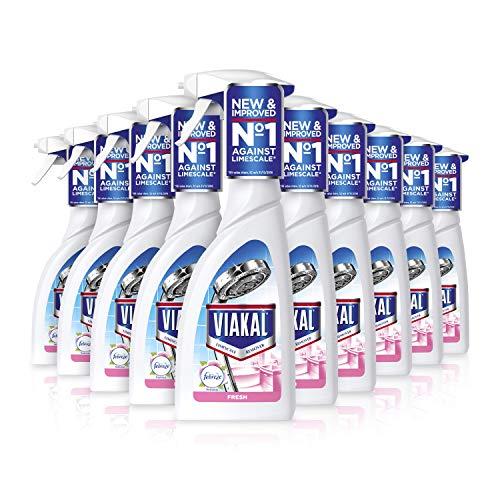 Viakal Limescale Remover Spray, Fresh, 5 Litre (500 ml x 10)