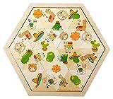 Hess-Spielzeug- Juego de Mesa de Madera para niños a Partir de 3 años, Llama, 24 Piezas, Regalo de cumpleaños, Navidad o Pascua (14965)