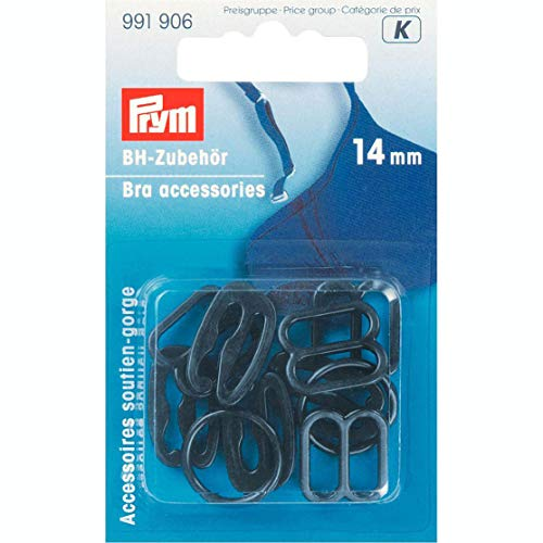 PRYM 991906 BH-Zubehör 14mm schwarz 10 Stück