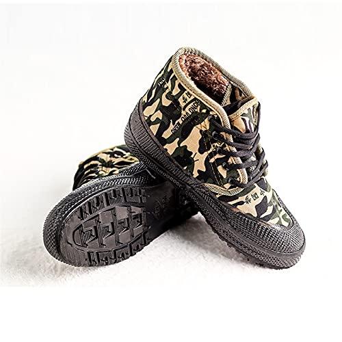 Zapatillas de Deporte para Hombre Zapatillas de Deporte de Plataforma Alta Moda Retro Zapatos para Caminar Casuales Ligero High Top,Green-44 EU