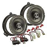 tomzz Audio 4003-002 Lautsprecher Einbau-Set passend für Audi A3 8P 8PA A4 B7 Tür vorne 165mm Koaxial System TA16.5-Pro