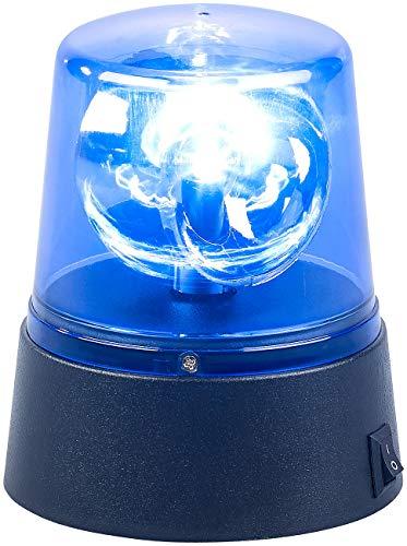 Lunartec Blaulicht: LED-Partyleuchte im Blaulichtdesign, 360°-Beleuchtung, Batteriebetrieb (Blaulicht mit Batterie)