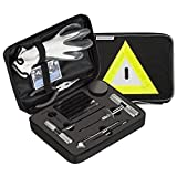 Secureguard 66 Piece Heavy Duty Tire Repair Kit - Designed for Flat Tire Puncture Repair | Premium Tire Repair Tools Perfect for Car, Truck, Trailer, RV, ATV, Motorcycle, Tractor or Equipment