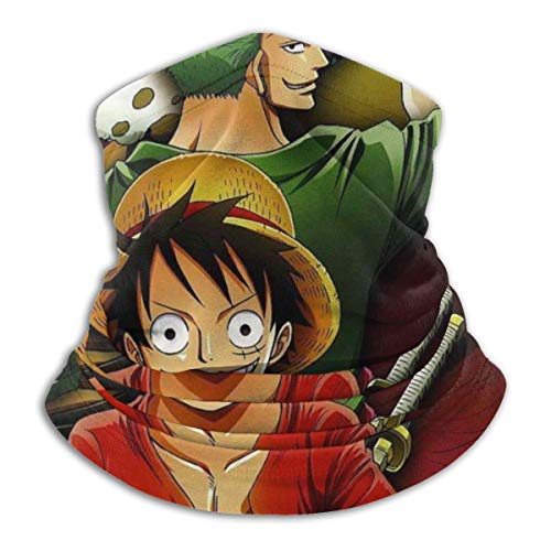NA ONE Piece Luffy and Roronoa Zoro Microfiber Tube Neck Warmer Face Mask Shield Protective Bandana Headband & Beanie